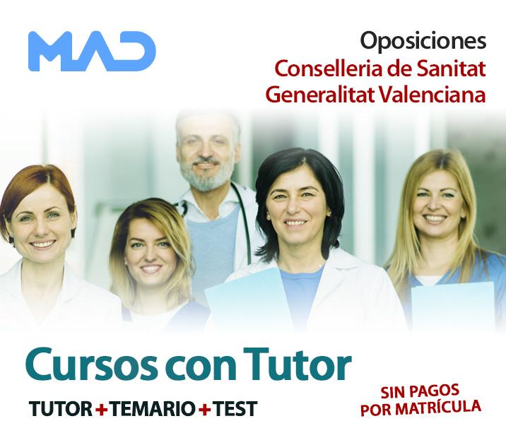 Cursos con Tutor - Oposiciones Conselleria de Sanitat Generalitat Valenciana